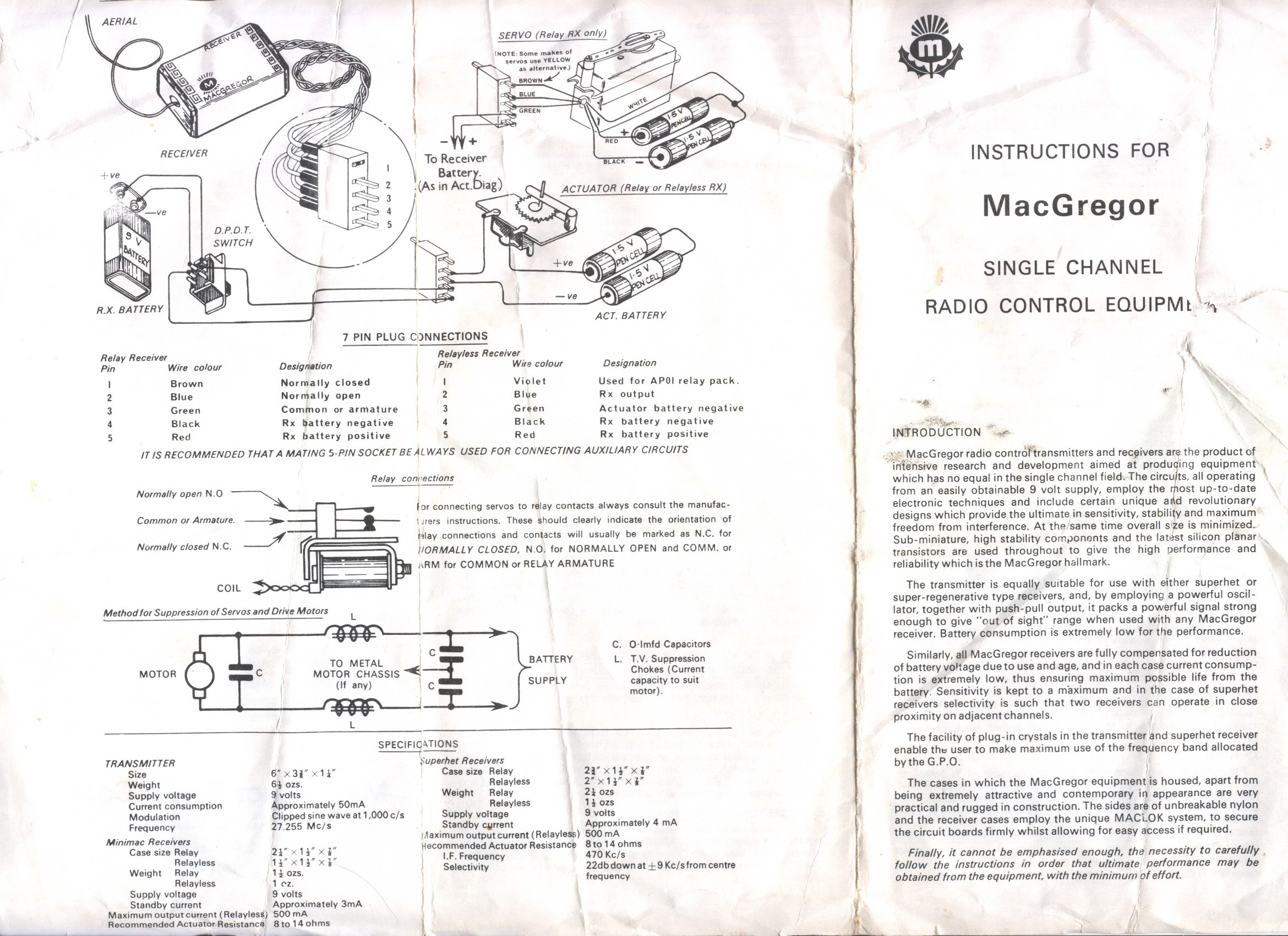 Phil Shauns Single Channel And Vintage R C Nostalgia Page Rcs Actuator Wiring Diagram M31 Macgregor Radio Instructions 1